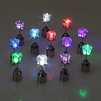 ホワイトペアLight Up LEDスタッドパーティーイヤリング