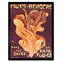 Pal Loie Fuller Dancer Folies Bergere Advert Art Print Framed Poster Wall Decor 12x16 inch ダンサー広告ポスター壁デコ
