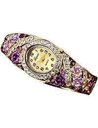 YOKINO 高品質 ファッション クォーツ腕時計 レディース腕時計 薄型 軽量 シンプル アナログモデル スタンダード ウォッチ watch おしゃれ シンプル ファッション ビジネス カジュアル レディース腕時計 (パープル)