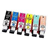 【エレスタ】EPSON (エプソン) KAM-6CL 増量版 カメ 互換インクカートリッジ 6色セット 対応機種: EP-881AW / EP-881AB / EP-881AR / EP-881AN