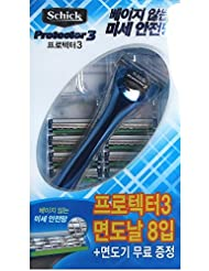 Schick Protector3 1レイザー+9カートリッジリフィルブレイド [並行輸入品]