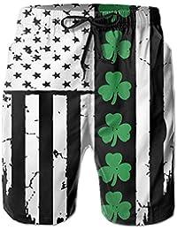 メンズ 水着アイルランドの旗 男性スポツパンツボードショーツ 通気速乾
