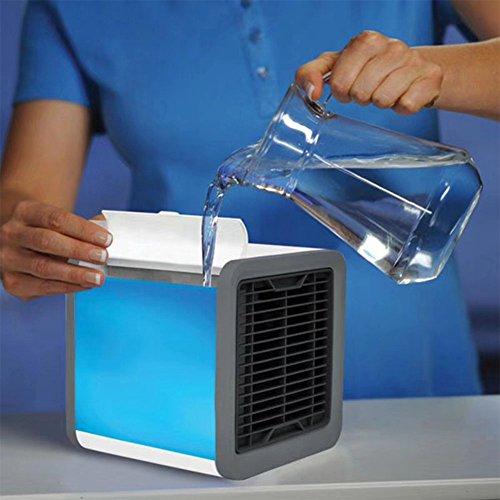 ETbotu USB Charging Portable Mini Air Conditioner Fan LED Colorful Night Light Decoration