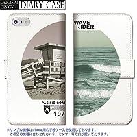 301-sanmaruichi- Galaxy S5 ケース Galaxy S5 カバー ギャラクシー S5 ケース 手帳型 おしゃれ ハワイ カリフォルニア ビーチ 海 ヤシの木 ロゴ かっこいい B 手帳ケース SUMSUNG