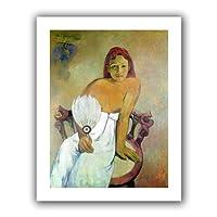 Paul Gauguinによるアートウォール「Girl with Fan」のアンラップキャンバスアートワーク 28 by 22-Inch 1gau011a1824r
