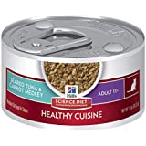 Hill's Science Diet Senior Healthy Cuisine Wet Cat Food, Adult 11+ Seared Tuna & Carrot Medley Canned Cat Food, 79g, 24 Pack