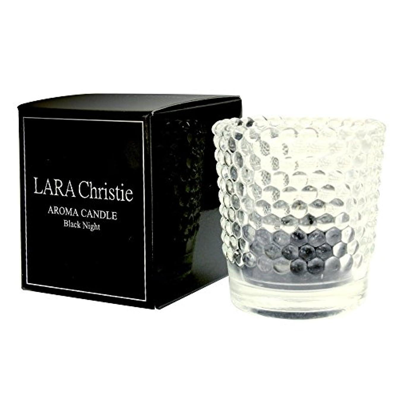 送信する二年生倍増[ララクリスティー] LARA Christie ブラックナイト アロマキャンドル [ BLACK Label ] a0011-b