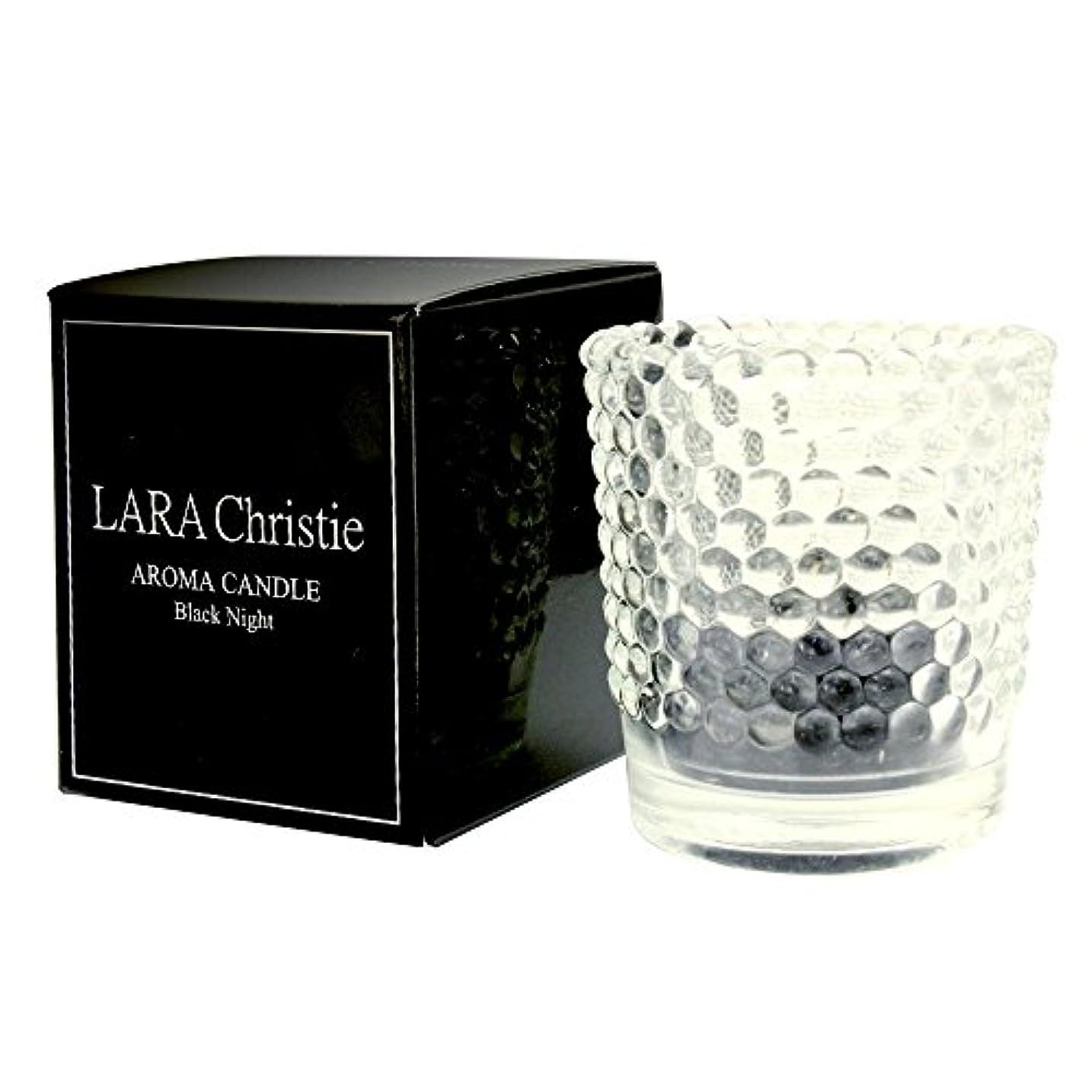 近々雰囲気モート[ララクリスティー] LARA Christie ブラックナイト アロマキャンドル [ BLACK Label ] a0011-b