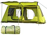 ツールームテント 300cmx400cmx215cm 2ルーム UV50+ 防虫 通気性 耐水圧3000mm 収納袋付き グランドシート付き [5-6人用] [8-12人用] [並行輸入品]