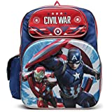 Avengers (アベンジャーズ) Captain America (キャプテンアメリカ) Civil War (シビル ウォー) 立体的なフルサイズリュックサック 男の子用 /40センチ [並行輸入品]