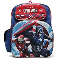 Captain America (キャプテンアメリカ) Civil War (シビル ウォー) 立体的なフルサイズリュックサック 男の子用 /40センチ [並行輸入品]