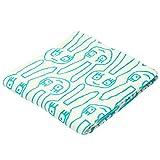 東京 西川 今治 タオルケット シングル 洗える 綿100% マタノアツコ ゆるうさ ウサギ ふわふわ パイル 日本製 ブルー FR01100003B