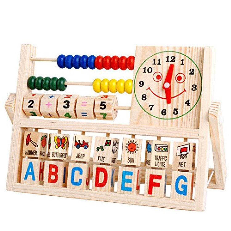 子供用の木製のコンピューティングフレームフラップ算術ラック学習ボードの赤ちゃん早期教育のパズル数学のおもちゃ学習おもちゃ1-6歳