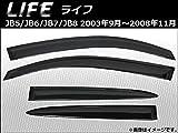 AP サイドバイザー AP-HDH014 入数:1セット(4枚) ホンダ ライフ JB5/JB6/JB7/JB8 2003年09月~2008年11月