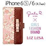 iDress GIRLS i iPhone6s iPhone6 (4.7インチ) 専用 ダイアリーカバー LIZ LISA ピンク i6S-GIL01