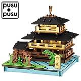 pusupusu京都・金閣寺ダンボールを組み立てて作る小さな工作キットCardboard tool kit, Kyoto Kinkakuji temple