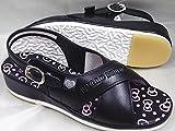 ハローキティ ナースサンダル SA-02703 オフィスサンダル レディース (M(23~23.5cm), ブラック)