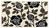 トクラ キッチンマット アイビー ウォッシャブル 丸洗い 薔薇 花柄 ベージュ 70×120cm