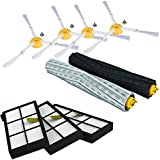 SODIAL for IRobot Roomba Parts Kit Series 800 860 865 866 870 871 880 885 886 890 900 960 966 980 - Brushes and Filters