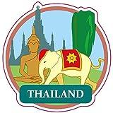 Amazon.co.jp海外旅行ステッカー タイランド THAILAND 防水紙シール スーツケースなどの目印に