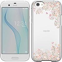 「Breeze-正規品」iPhone ・ スマホケース ポリカーボネイト [透明-Pink] AQUOS R ケース docomo SH-03J/au SHV39/softbank 605SH 兼用 アクオス アール カバー 液晶保護フィルム付 全機種対応 [SH03J]