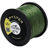 スカイスパー(Skysper)釣り糸 PEライン フィッシングライン 4本編み 4編 500m/1000m 超強力 高感度 耐磨耗 低伸度 10-100LB 釣具 釣糸 全3色 釣りライン 超高分子量ポリエチレン 2017 アップグレード 0.6号~10号