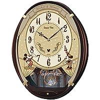 セイコー クロック 掛け時計 ミッキーマウス ミニーマウス 電波 アナログ 6曲 メロディ ミッキー&フレンズ Disney Time ディズニータイム 茶 メタリック FW579B SEIKO
