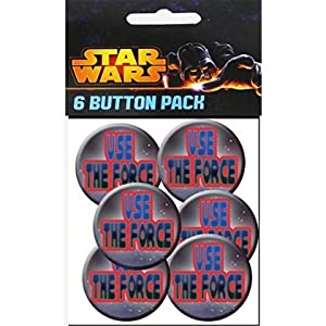 C&D Visionary Star Wars Use The Force 1.5 Inch Button, (6-Piece) [並行輸入品]
