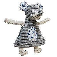 犬のぬいぐるみ、コーデュロイのウサギの象咬傷抵抗性の犬の雌犬小型犬のためのペット訓練のおもちゃ21.5cmx14cm (Color : Grey)