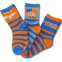 Blippi Official Children's Socks Size Large 4T-6T 3-Pack