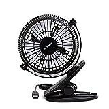 Heating Cooling Air Quality Best Deals - (キーナイス) Keyniceデスクファン ブラック クリップタイプ 個人用 卓上ファン クリップ付きファン 4インチ 2つの速度 ポータブル冷却ファン ネットブック・MacBook・充電機・パソコンからUSBで出力 360度上下