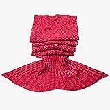 STARDUST 人魚デザイン マーメイド ブランケット 着る 毛布 ( Aタイプ レッド ) SD-MERMAID-A-RD