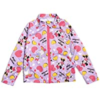 56c95651fe473 (ディズニー) Disney 女の子用長袖ラッシュガード sw1503 110cm パープル