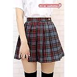 チェック柄プリーツスカート単品色:グレーチェック サイズ:M
