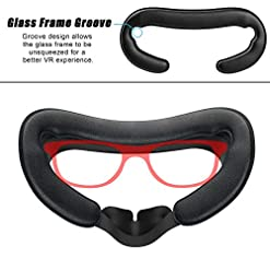 VR Face PU Leather Facial Interface Foam Cover Pad Replacement for Oculus Rift /& Lens Protect Cover Dust Proof Cover Anti-Dust Lens Protector for Oculus Rift