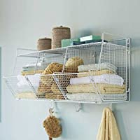 vivaterra three-bin Wire Hanging Shelf – 30 L x 13 d x 17 H ホワイト V0443 WHT
