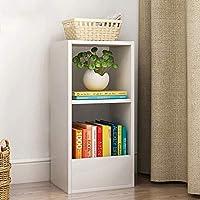 Super Kh® 床置き本棚2ベッドルームクリエイティブ棚シンプルでモダンな学生書棚スペース30x25x60cm * (色 : 白)