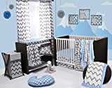 Best Bacati布団セット - Bacati Ikat Chevron Muslin 10 Piece Crib Set Review