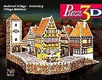 Medieval Villageローテンブルク、740ピース3dジグソーパズルby Wrebbitパズ3d