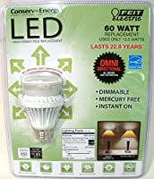 *Lot of 10* Feit Electric A19 60 Watt Replacement Uses 13.5 Watts [並行輸入品]