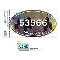 53566 モンロー, WI - シティ - 楕円形郵便番号ステッカー