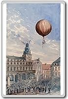Balloon Over France - Vintage Aviation fridge magnet - ?????????