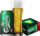 【Web限定】 カールスバーグ 缶 350ml×8本 オリジナル非売品グラス付きセット