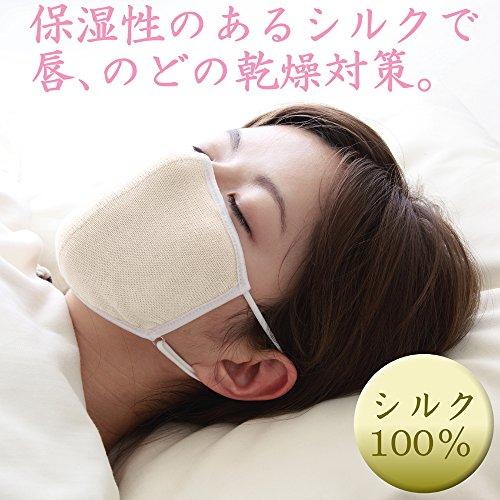 大判潤いシルクのおやすみマスク(ポーチ付き)キナリ