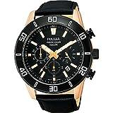 [セイコー パルサー]SEIKO PULSAR 100m防水 クロノグラフ ブラック 腕時計 メンズ PT3434 [並行輸入品]
