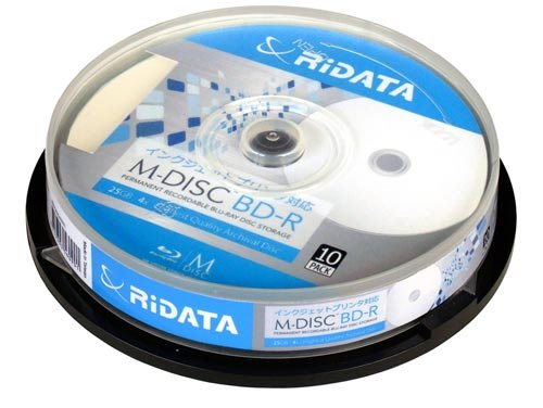 ライテック製 M-BDR25GB.PW 10SP RiDATA M-DISC BD-R 25GB 4速 10枚パック