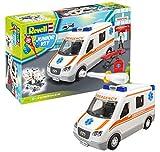 ドイツレベル 1/20 ジュニアキットシリーズ 救急車 色分け済み プラモデル 08066
