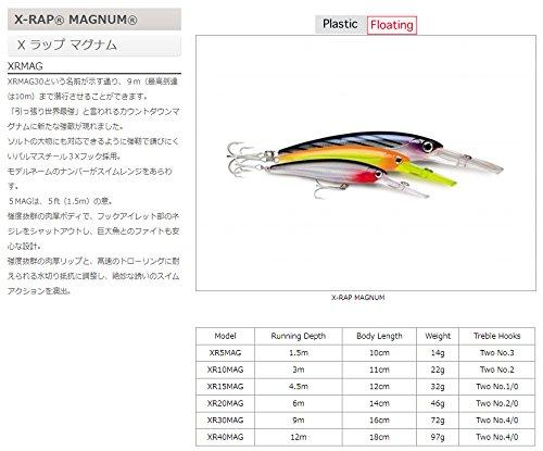 ラパラ エックスラップマグナム 14cm 46g セイルフィッシュUV X-RAP MAGNUM XR20MAG-SFU