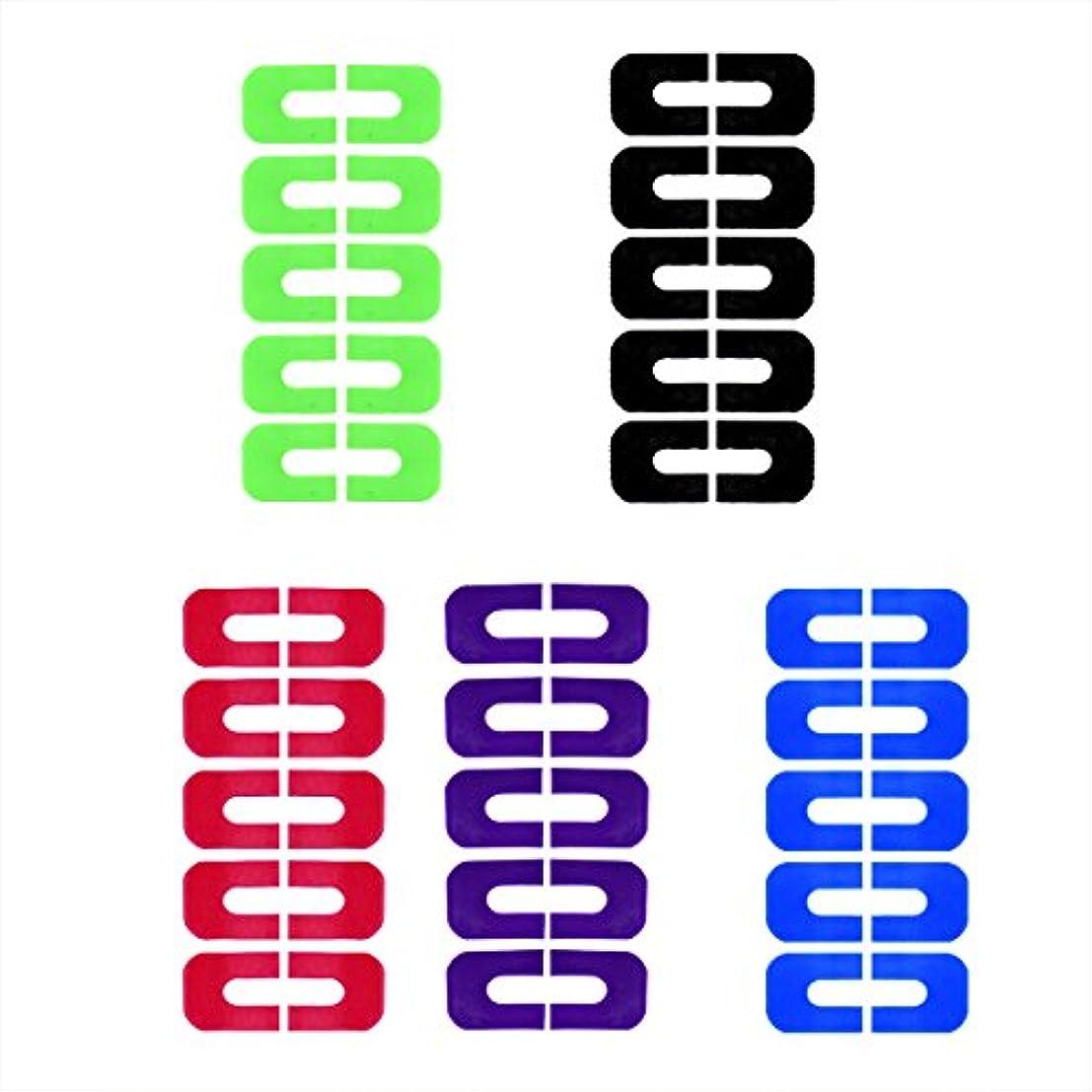 Goshang ネイルプロテクター ネイルクリップ ピールオフテープ 肌にやさしいシートタイプ 溢れを防止 5枚セット スタンピングプレートツール