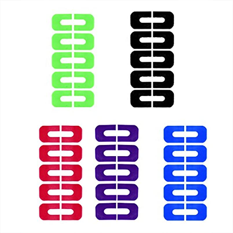 モーターキャプチャー有能なGoshang ネイルプロテクター ネイルクリップ ピールオフテープ 肌にやさしいシートタイプ 溢れを防止 5枚セット スタンピングプレートツール